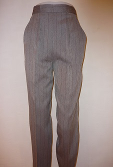 Nicole Lewis Herringbone Trousers - Taupe