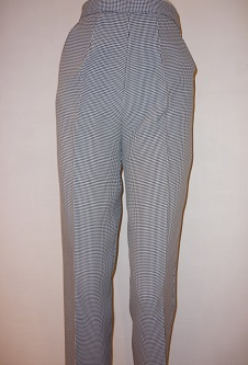 Nicole Lewis Black/White Dogtooth Trousers