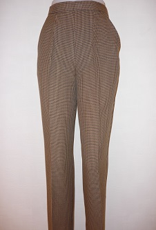 Nicole Lewis Brown/Beige Dogtooth Trousers