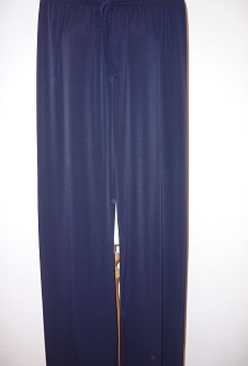 Nicole Lewis Wide Leg Palazzo Trousers - Navy