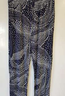 Nicole Lewis Navy/White Casual Patterned Trousers - Floral 1