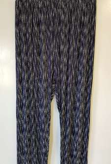 Nicole Lewis Navy/White Casual Patterned Trousers - Dotty