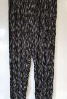 Nicole Lewis Black/White Casual Patterned Trousers - Dotty
