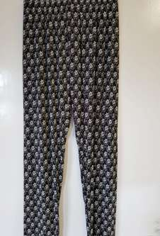 Nicole Lewis Black/White Casual Patterned Trousers - Floral 2