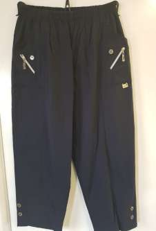 Nicole Lewis Cropped Trousers - Navy Blue