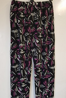 Nicole Lewis Casual trousers - Black/Fuchsia