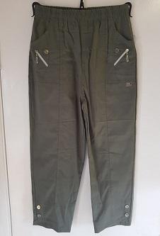 Nicole Lewis Cropped Trousers - Khaki