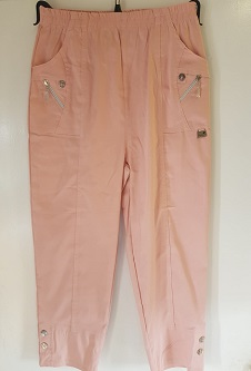 Nicole Lewis Cropped Trousers - Soft Pink