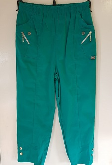 Nicole Lewis Cropped Trousers - Jade Green
